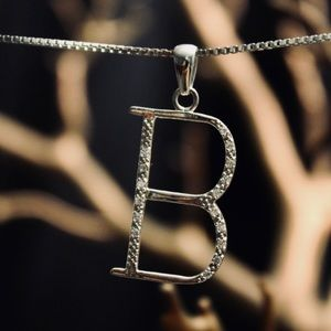 Jewelry - Initial b necklace silver 925